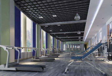 北京舒华阳光 场馆装修 LED照明  健身房 健身器械